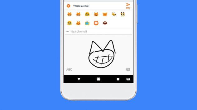 gboard emoji dibujar