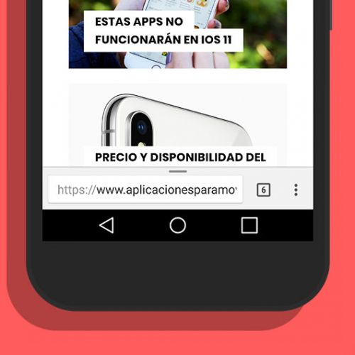 mover barra direcciones chrome android