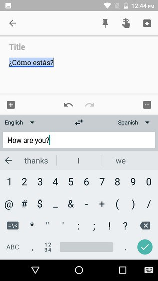 Translated gboard