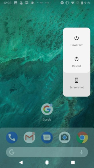 android p captura de pantalla