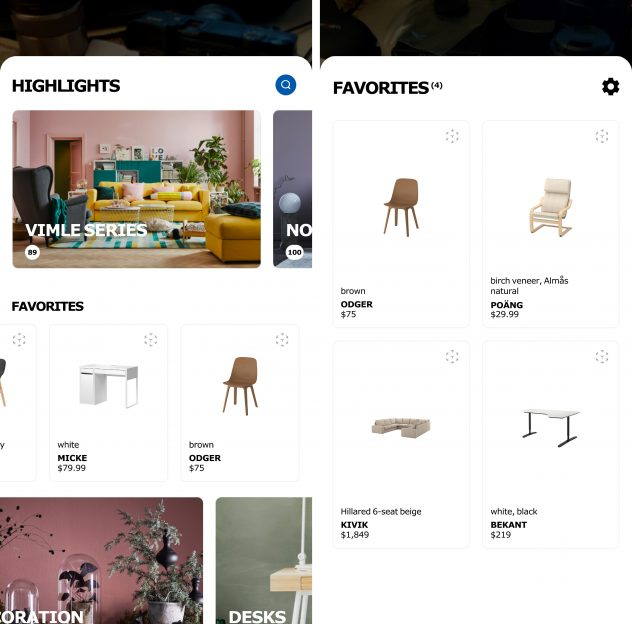 ikea place app android favoritos