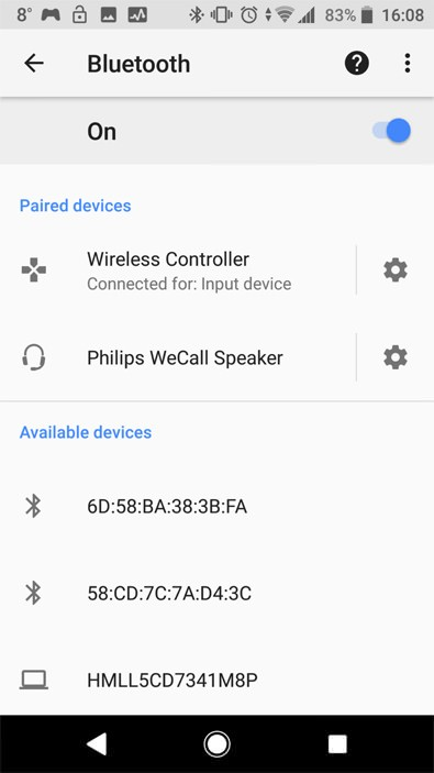 ps4 bluetooth android