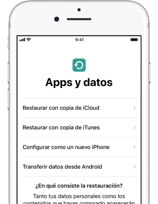 apps y datos nuevo iphone
