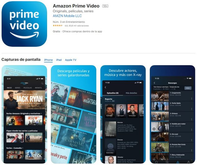 descargar app amazon prime video